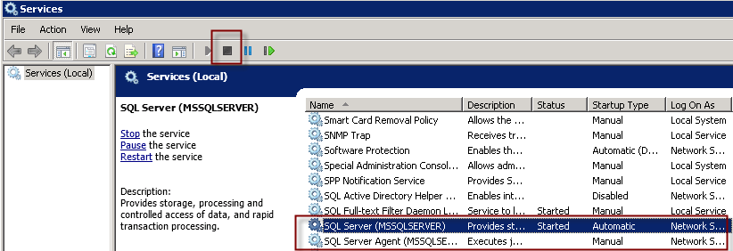 SQL Server 2008 – Administrator account denied access or