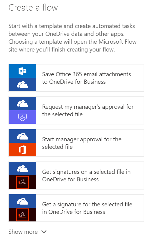 OneDrive and Microsoft Flow – Better Together! - Rez's Blog Spot